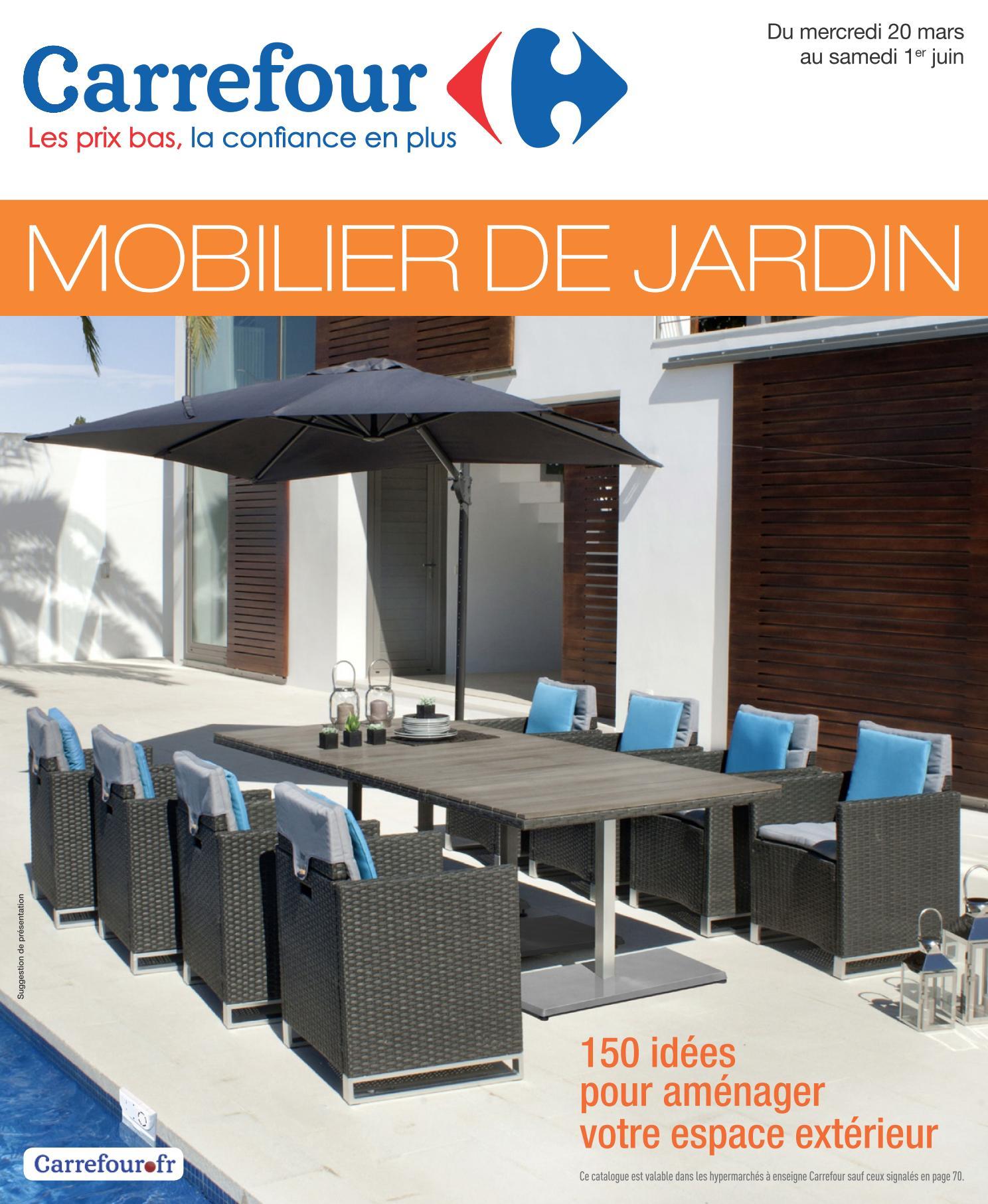 Salon Jardin Carrefour Des Idées - Idees Conception Jardin pour Salon De Jardin Resine Carrefour