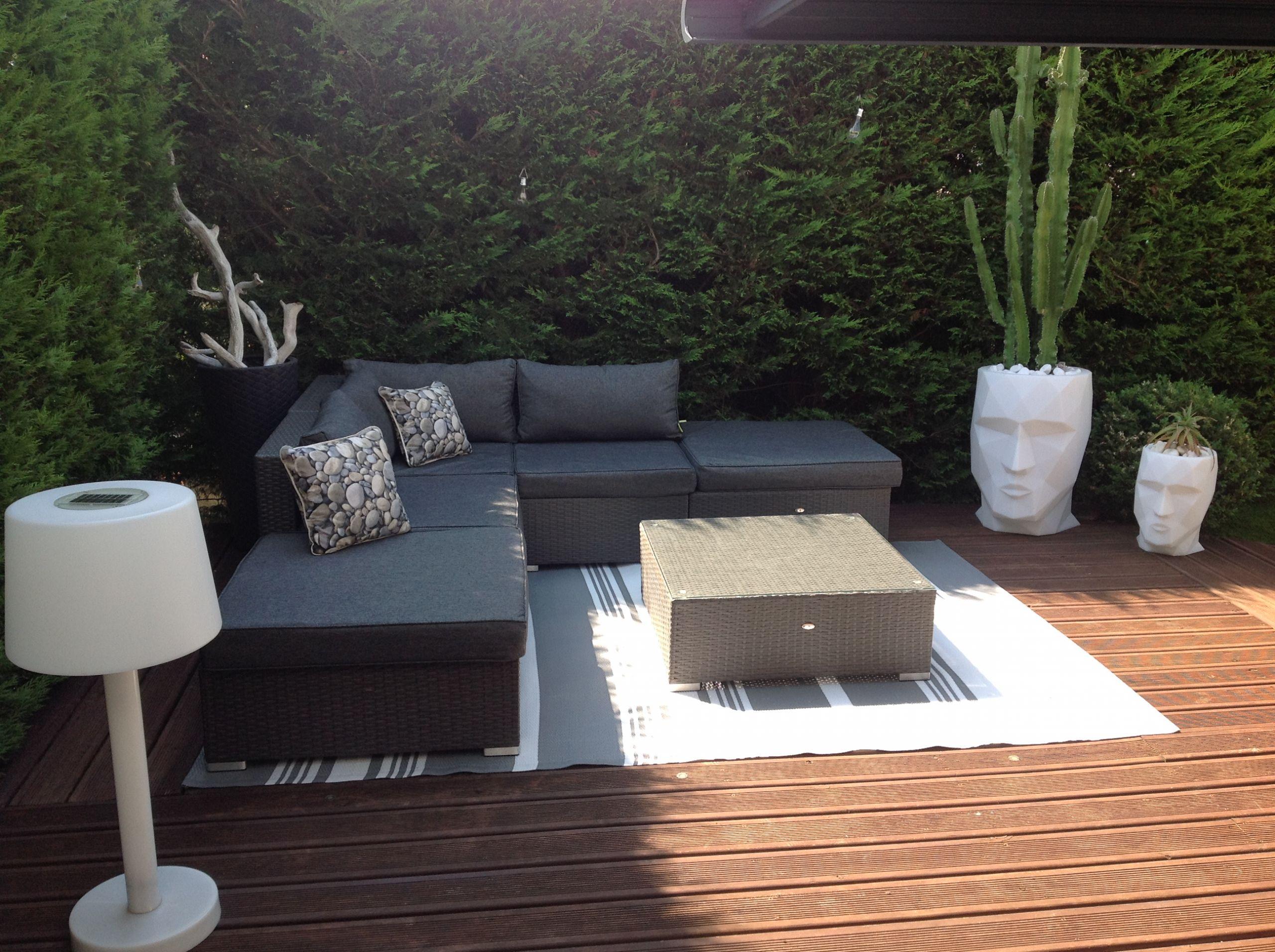 Salon Resine Tressee Charmant Salon Exterieur Terrasse ... destiné Table De Jardin En Resine Tressée