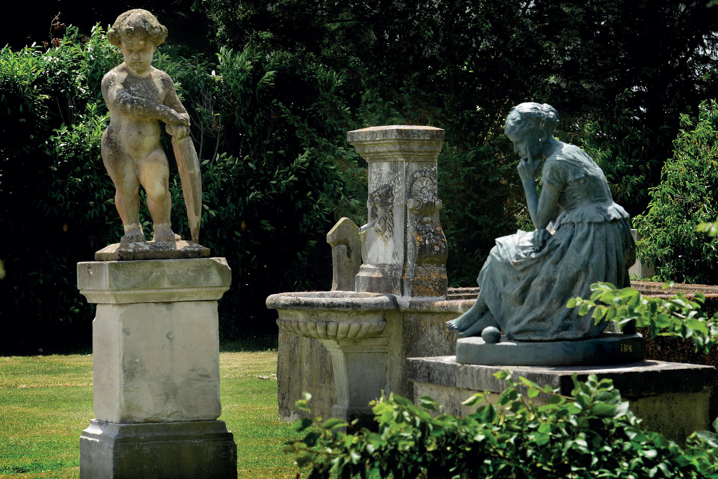 Sculptures & Ornements - Statue (Ref. E5462) - Origines ... à Statues De Jardin Occasion