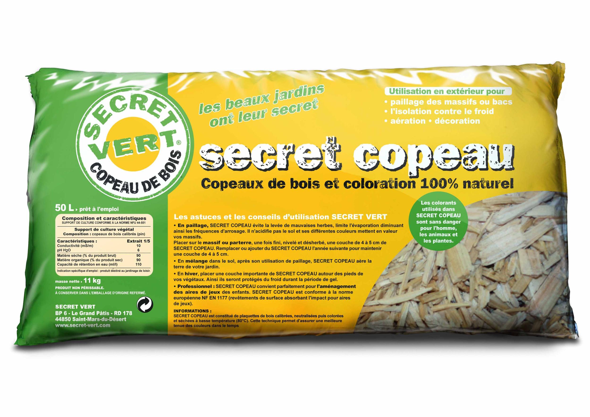 Secret Copeau Naturel 15/30 Mm - 50 L pour Copeaux De Bois Jardin