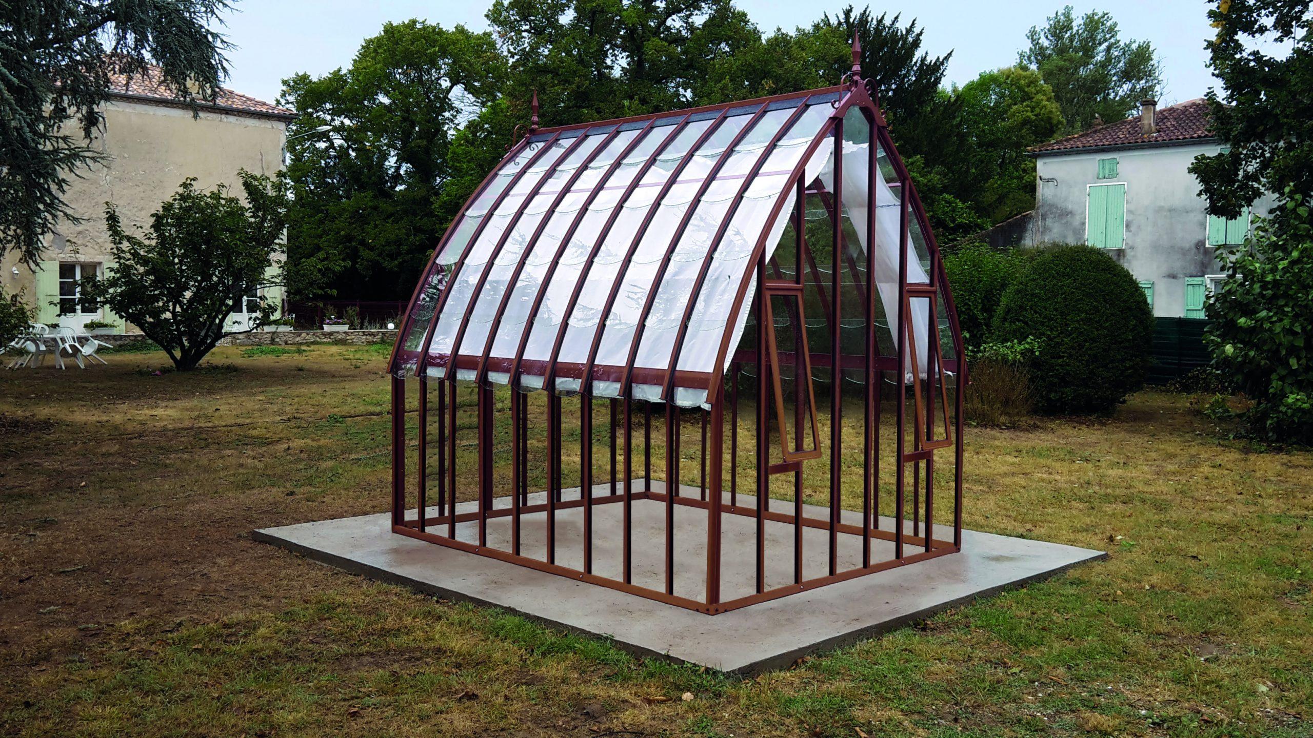 Serre À L'ancienne Style Fer Forgé - Aluminium - Verre ... dedans Serre De Jardin D Occasion