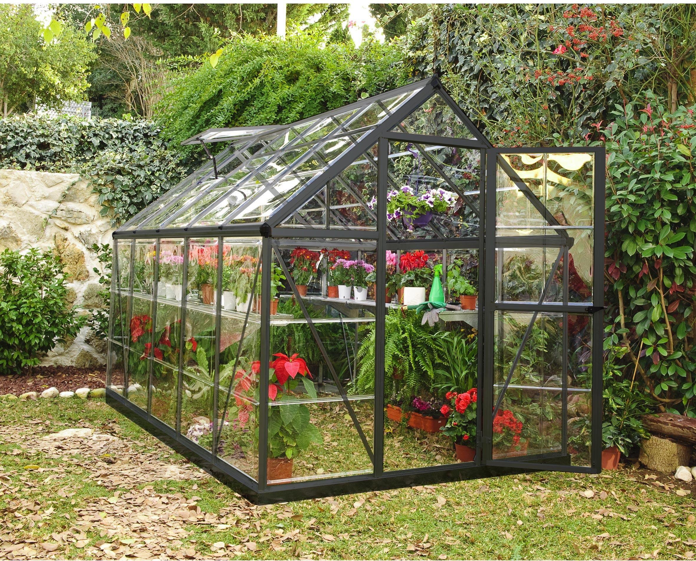Serre De Jardin Alu Et Polycarbonate Palram Harmony, 5.6 M² ... à Serre De Jardin Leroy Merlin
