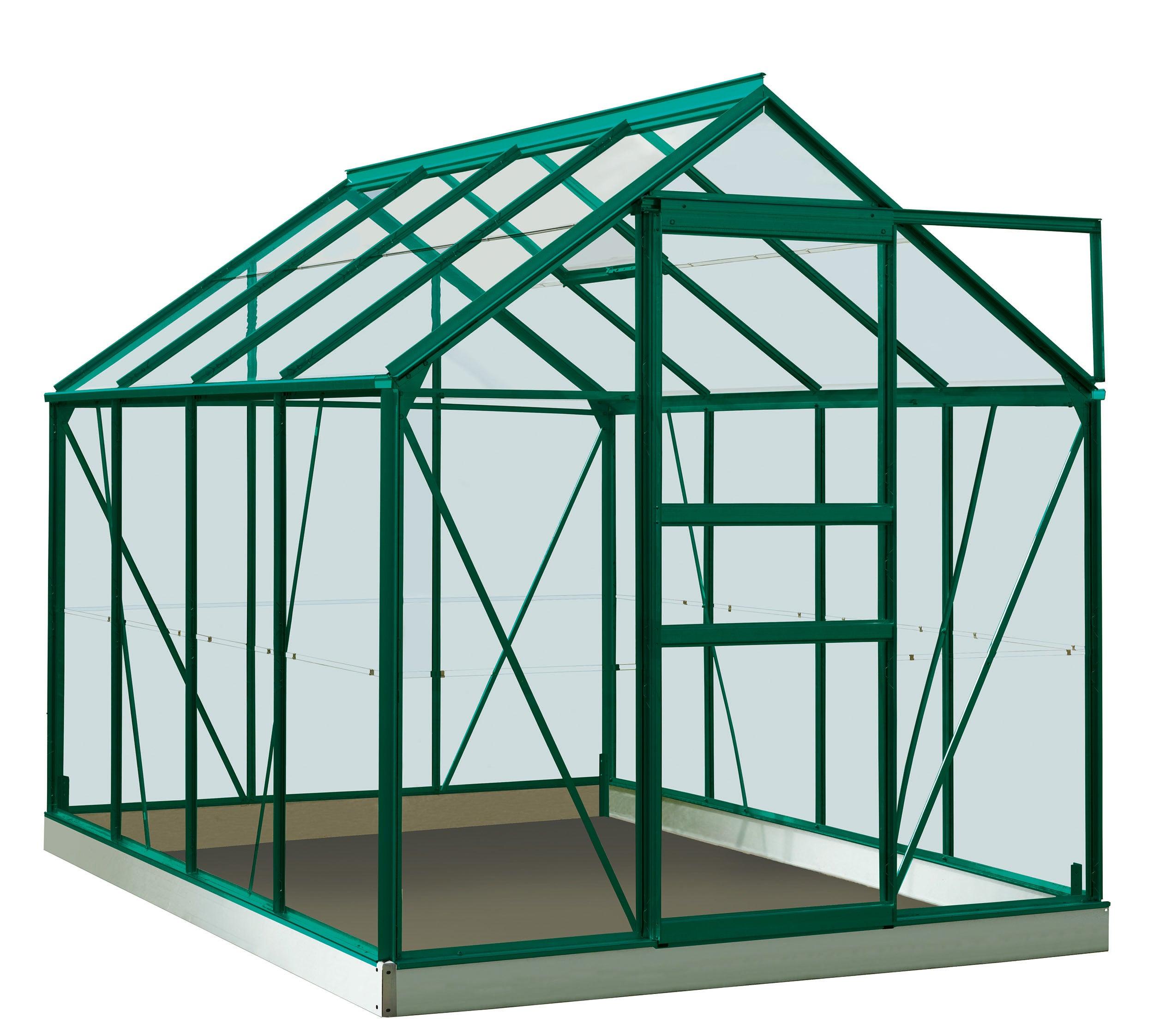 Serre De Jardin En Verre Trempé Rainbow Vert, 4.96 M² à Serre De Jardin Leroy Merlin