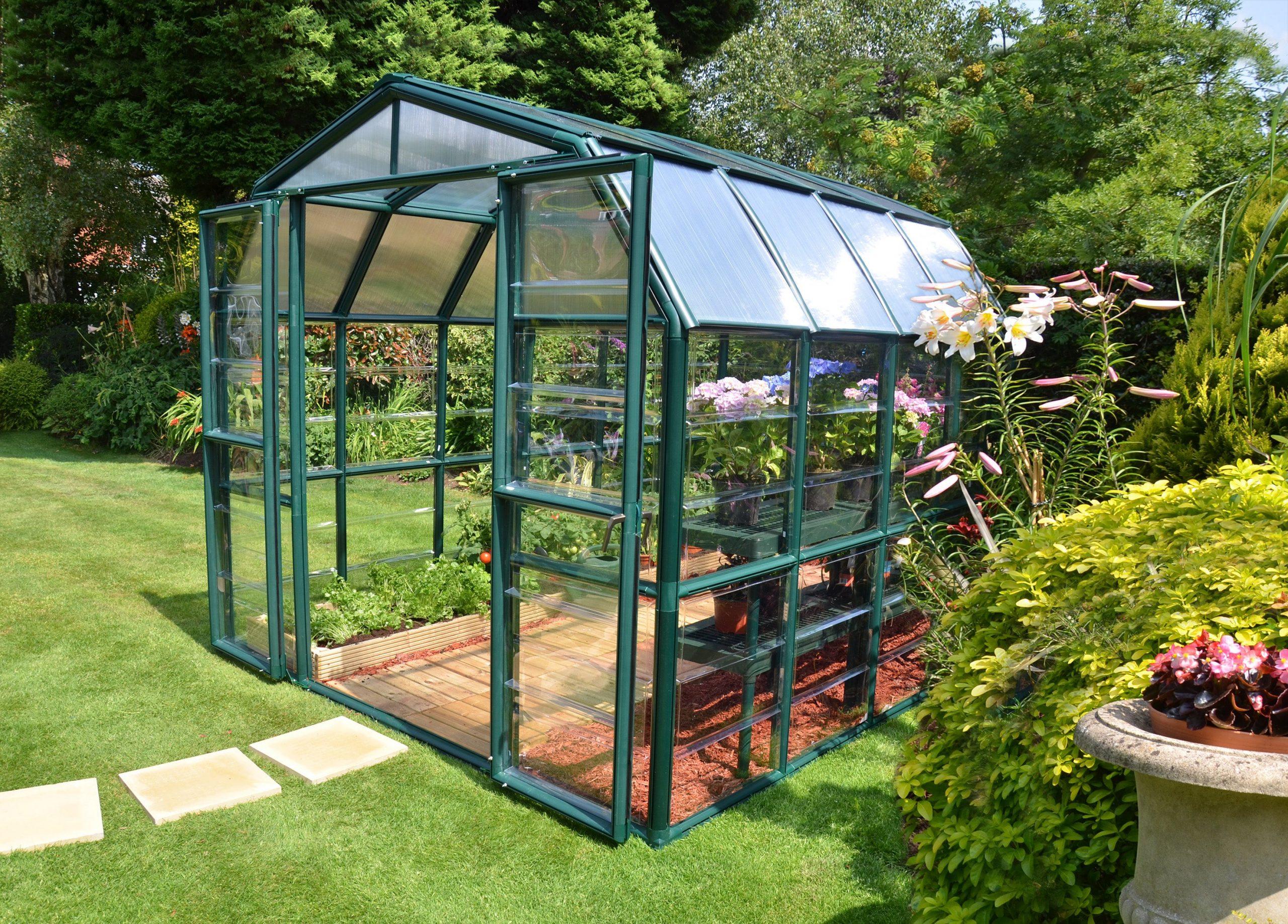 Serre De Jardin Grand Gardener 6.8 M², Aluminium Et Polycarbonate, Palram encequiconcerne Serre De Jardin Leroy Merlin