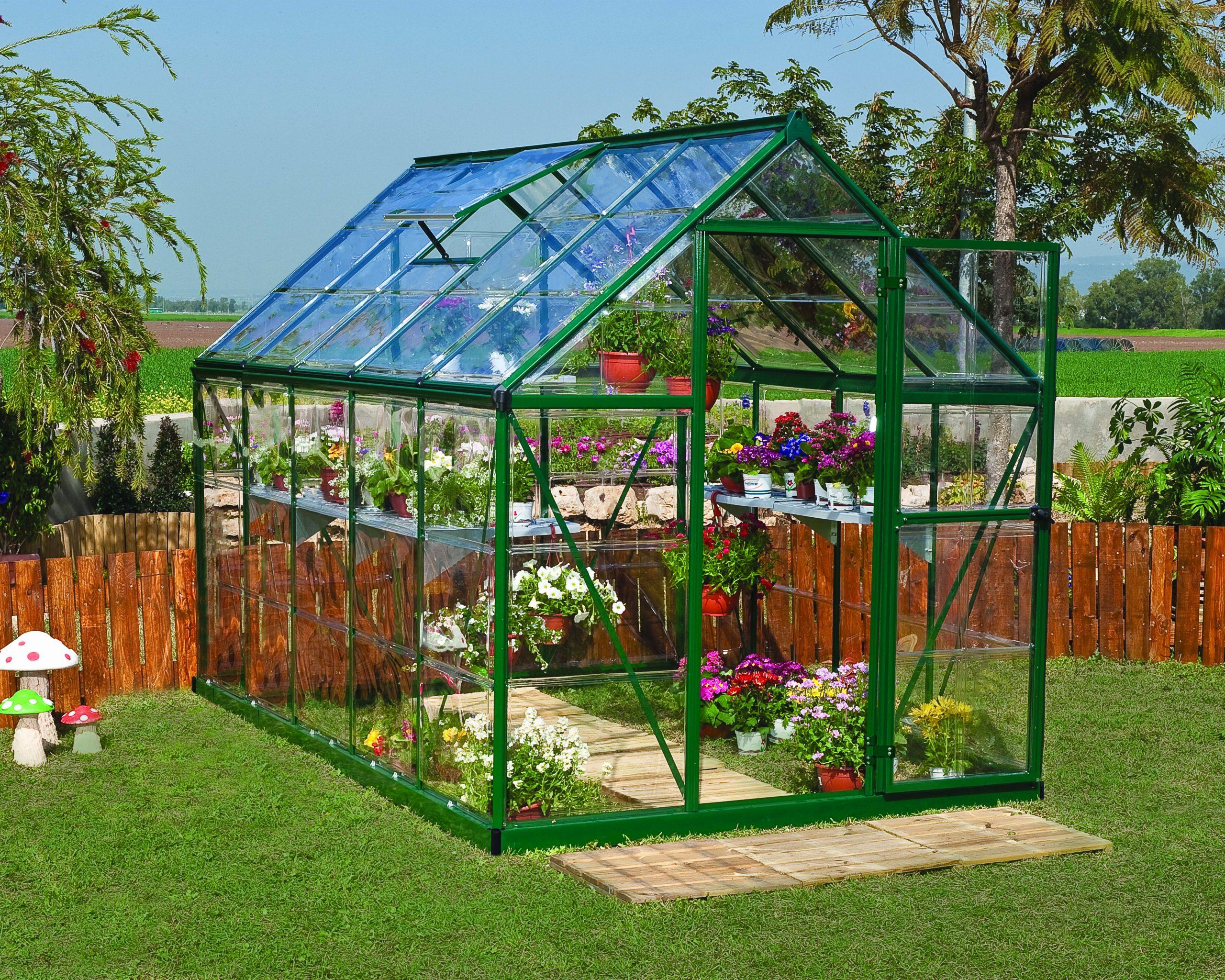 Serre De Jardin Verte Harmony 5.6 M², Aluminium Et Polycarbonate, Palram intérieur Serre De Jardin Leroy Merlin