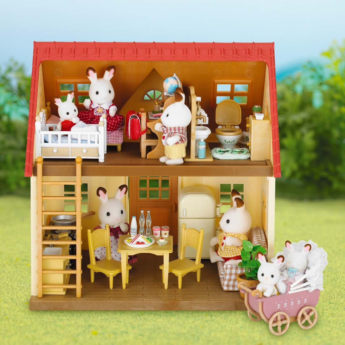 Set Cottage Avec Jardin Sylvanian Pour Enfant De 3 Ans À 8 ... pour Maison Jardin Jouet
