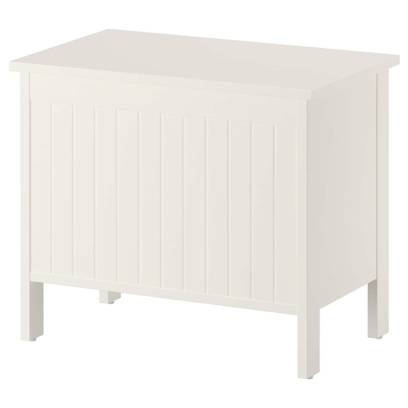 Silverån Banc Avec Rangement - Blanc | Banc De Rangement ... avec Coffre De Jardin Ikea