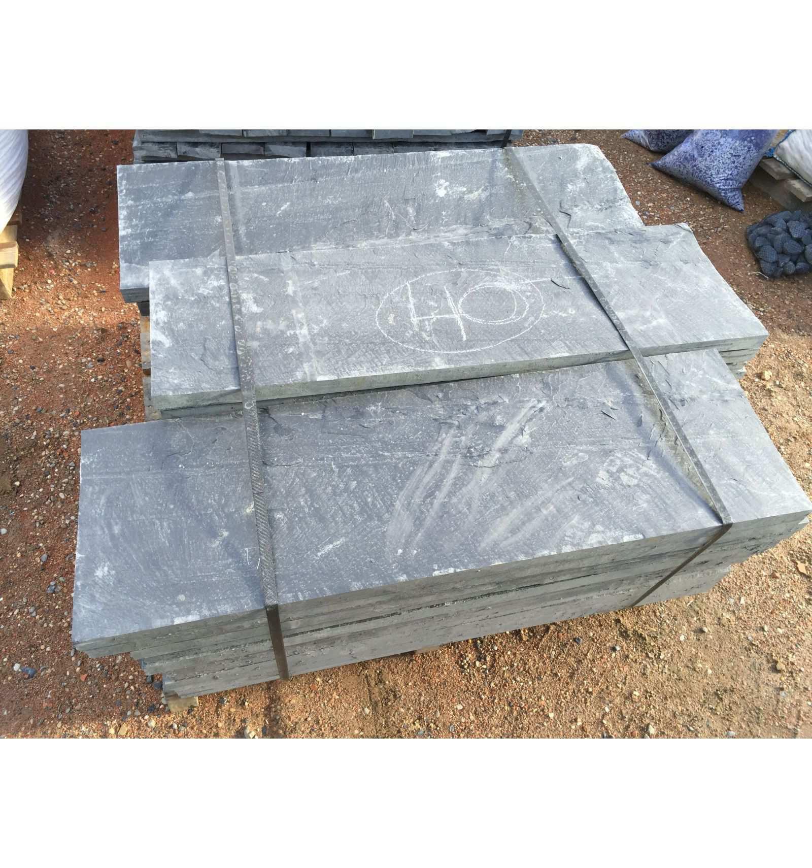 Slate Slab 100X50X3 Cm. - Velestone - Cantos Rodados Piedra ... encequiconcerne Geotextile Jardin