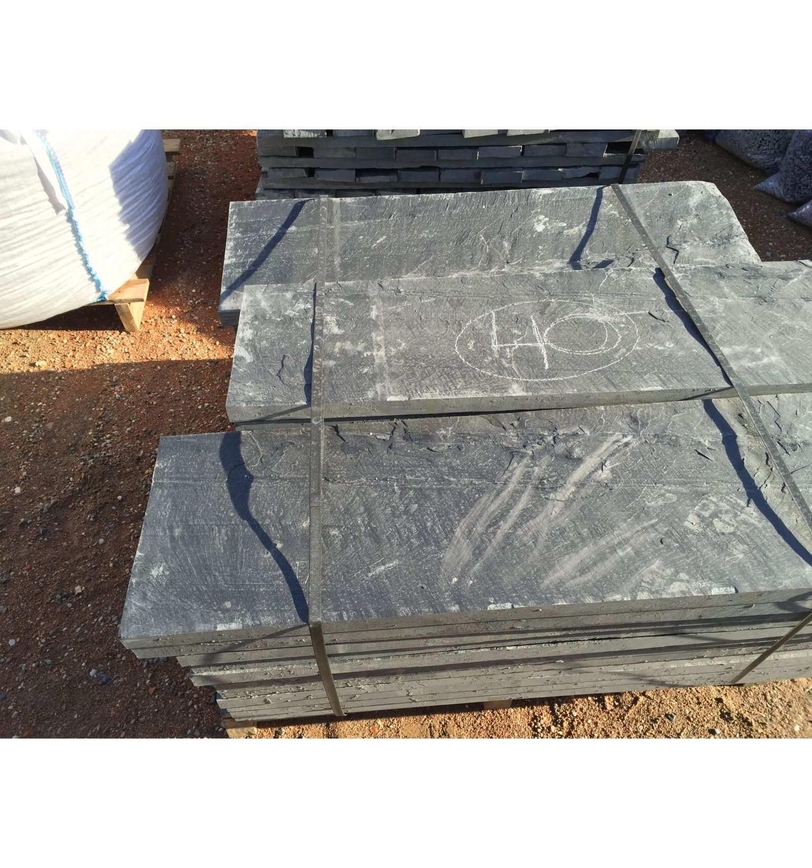 Slate Slab 100X50X3 Cm. - Velestone - Cantos Rodados Piedra ... serapportantà Geotextile Jardin