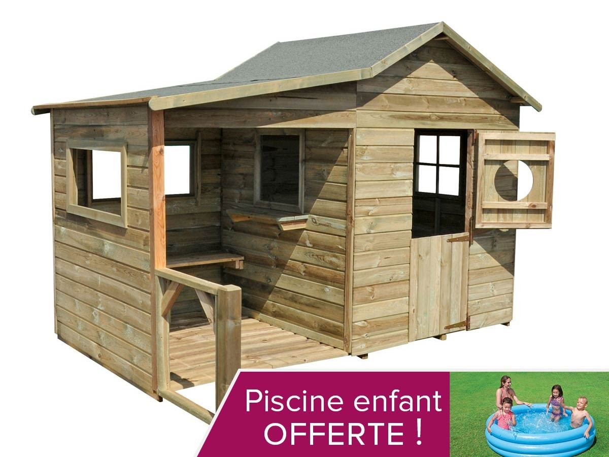 Soldes Maison Jardin Enfant - L'univers Du Bébé dedans Cabane De Jardin Enfant Bois