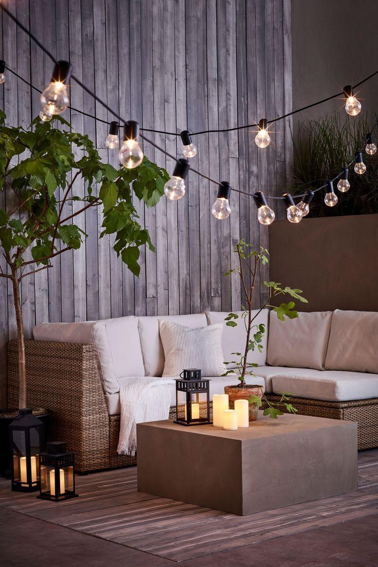 Sollerön Modular Corner Sofa, 3-Seat, Outdoor - Brown ... serapportantà Ikea Mobilier De Jardin