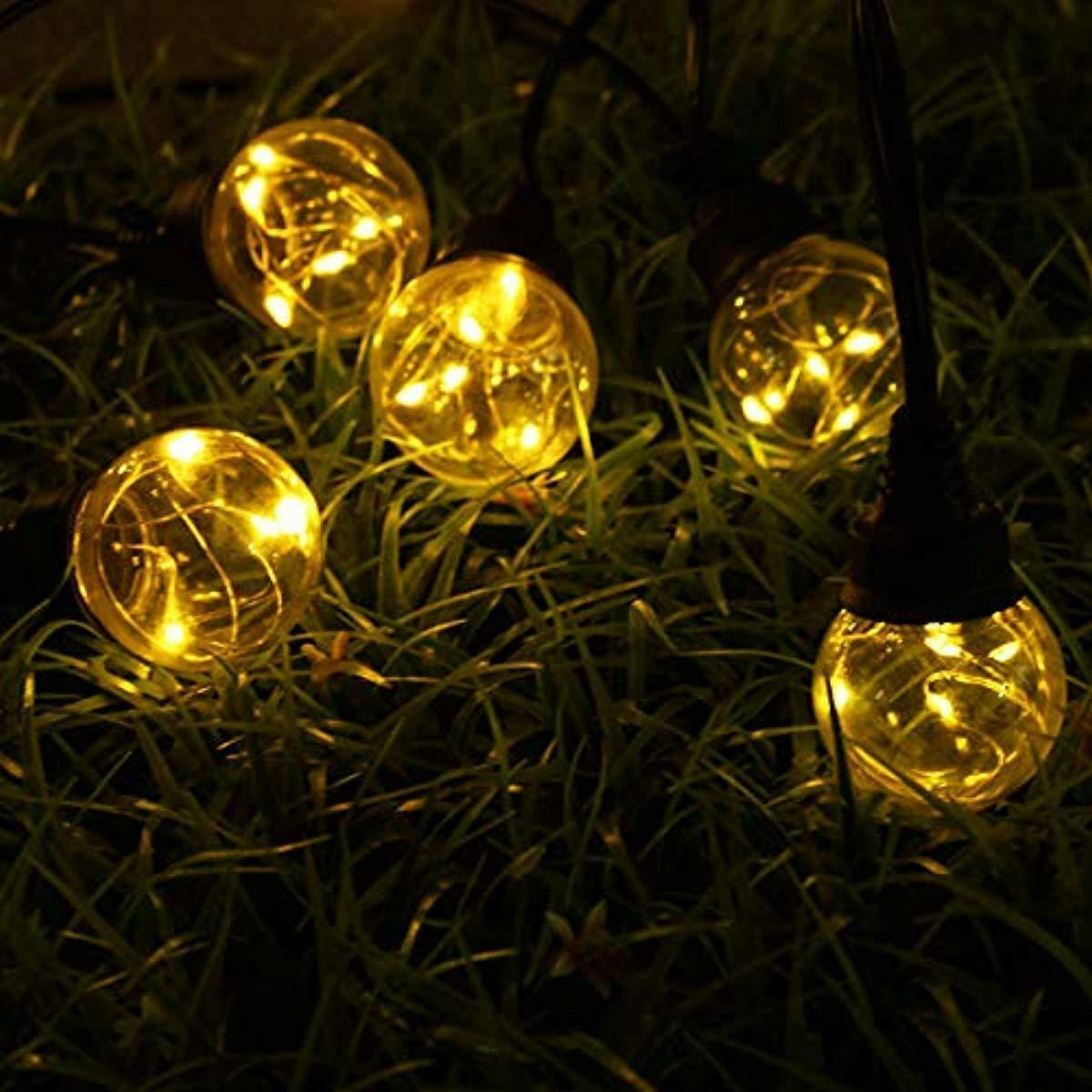 Solmore Guirlande Lumineuse 9.2M 25 Boules Led G45 Ampoule ... concernant Boule Lumineuse Jardin