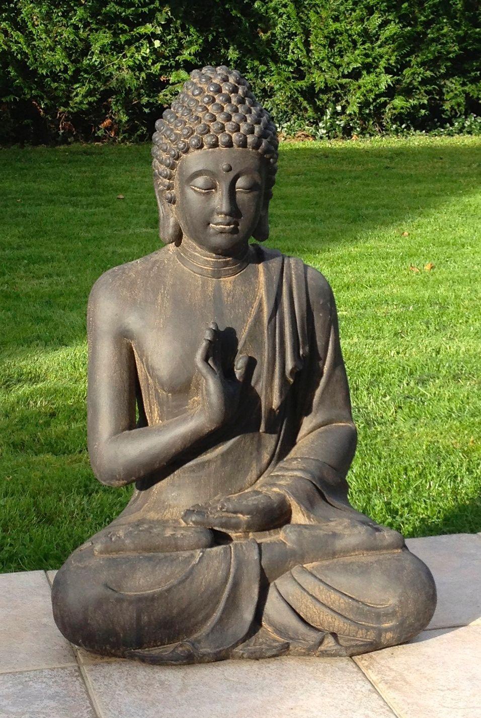 Superbe Statue De Bouddha Zen Jardin 73 Cm Pas Cher ... destiné Statues De Jardin Occasion