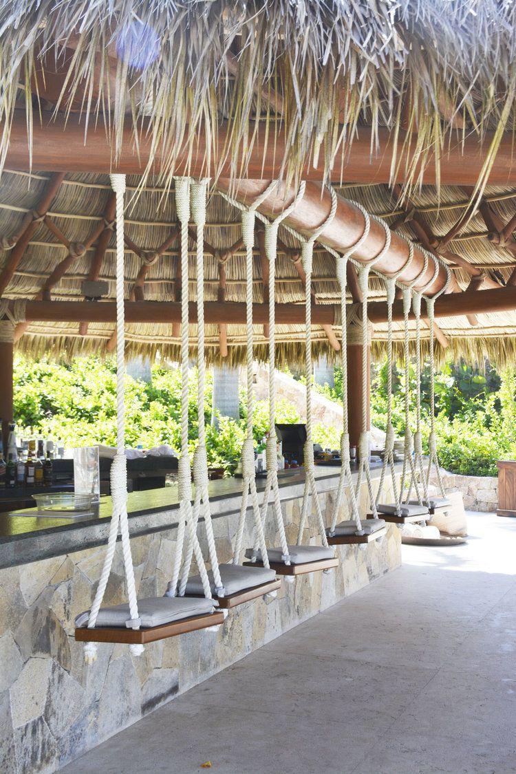 Swings, Chair, Beach Club, Punta Mita, Mexico, Vacation ... concernant Paillote Jardin