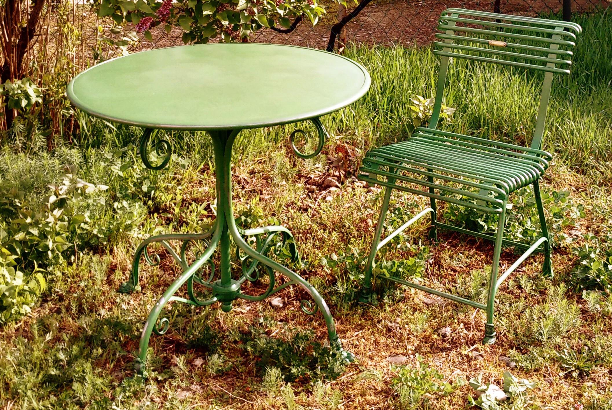 T80 - Table De Jardin Ronde - Pieds Griffe encequiconcerne Griffe De Jardin