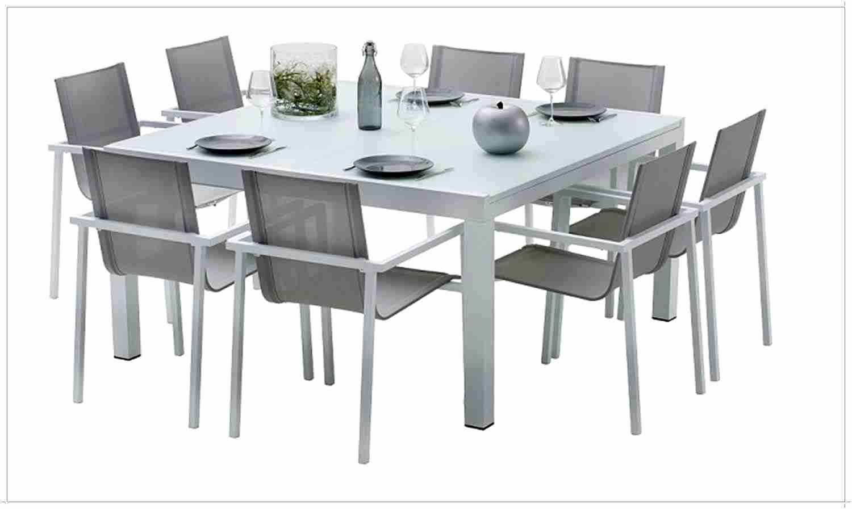 Table Carree 8 Personnes Salle À Manger Beau Résultat ... pour Table De Jardin Carrée 8 Personnes