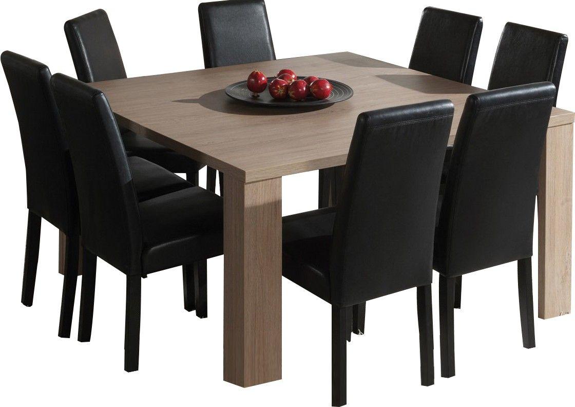 Table Carrée Salle À Manger Moderne Coloris Chêne Ardennes ... tout Table De Jardin Carrée 8 Personnes