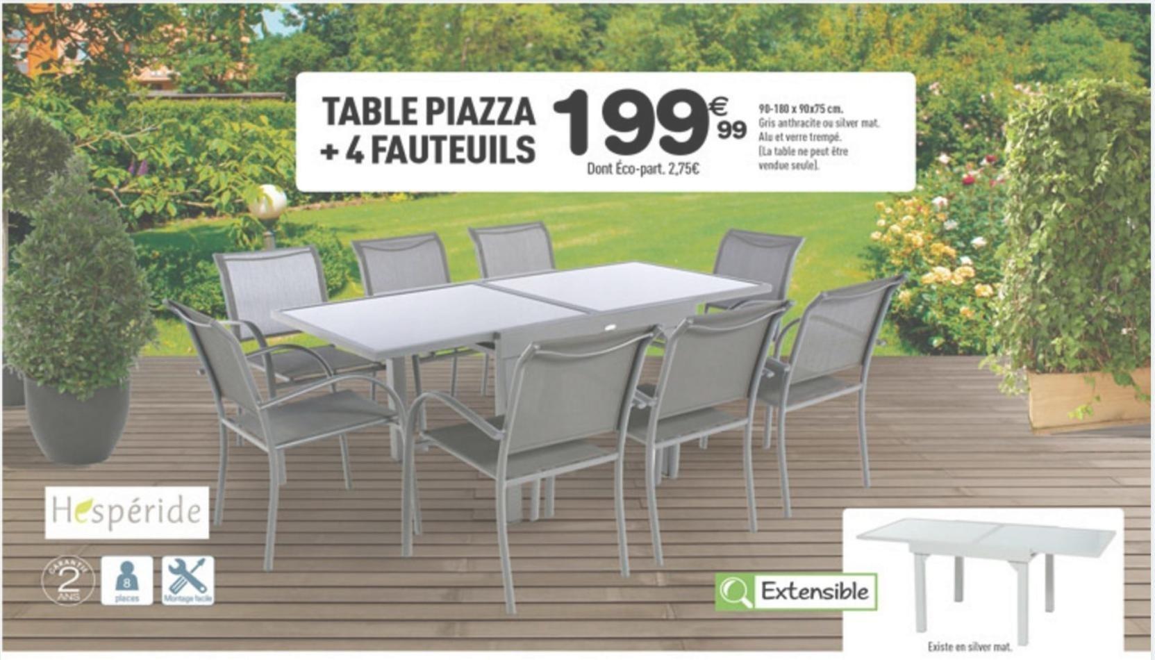 Table Centrakor Table De Table Centrakor De Hesperide ... à Centrakor Salon De Jardin