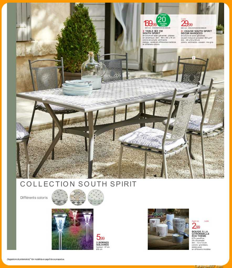 Table Chaises South Spirit Intermarche Avril 2017 - Intermarché destiné Table De Jardin Intermarché