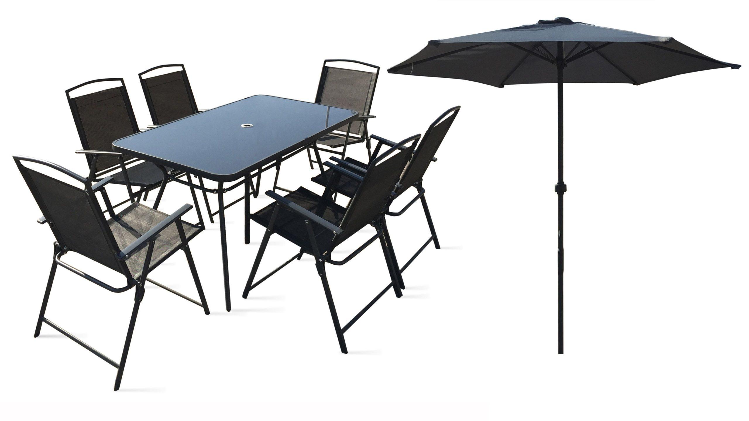 Table De Jardin 6 Chaises Et 1 Parasol avec Ensemble Table Et Chaise De Jardin Pas Cher