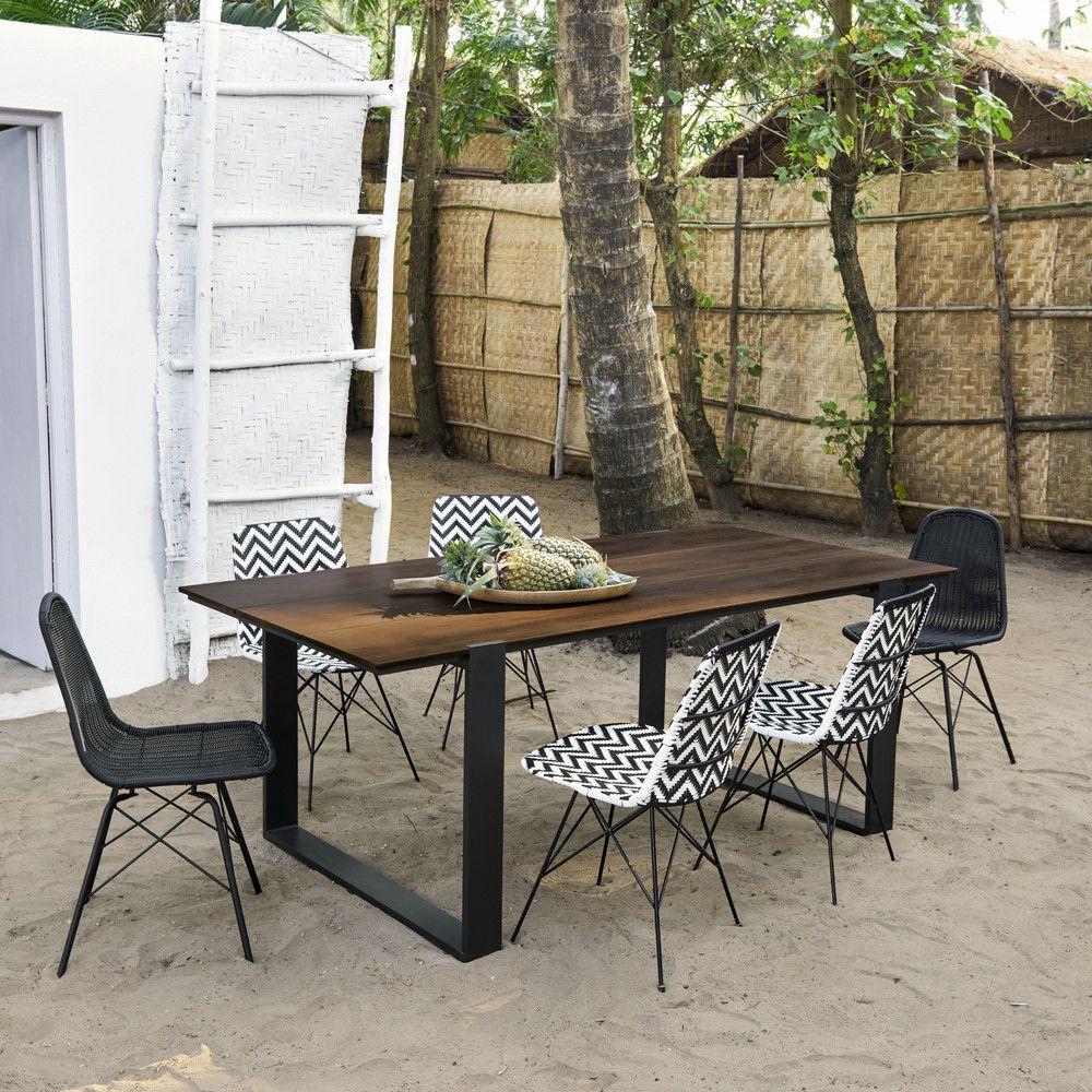 Table De Jardin 6 Personnes En Composite Et Aluminium L200 ... serapportantà Table Jardin 6 Personnes