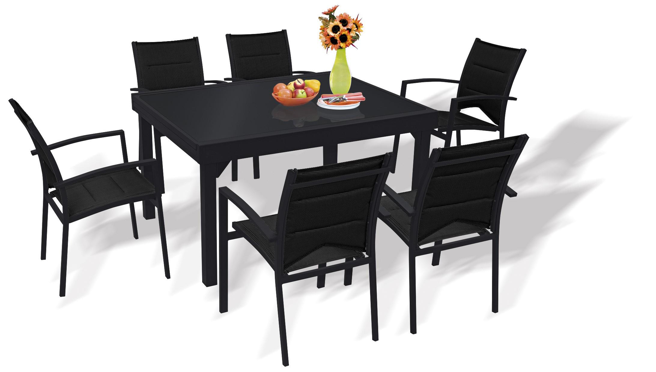 Table De Jardin Avec Rallonge Des Idées - Idees Conception ... avec Table De Jardin Carrée 8 Personnes