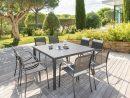 Table De Jardin Carrã©E Piazza Graphite - Hesperide | Table ... encequiconcerne Salon De Jardin Centrakor
