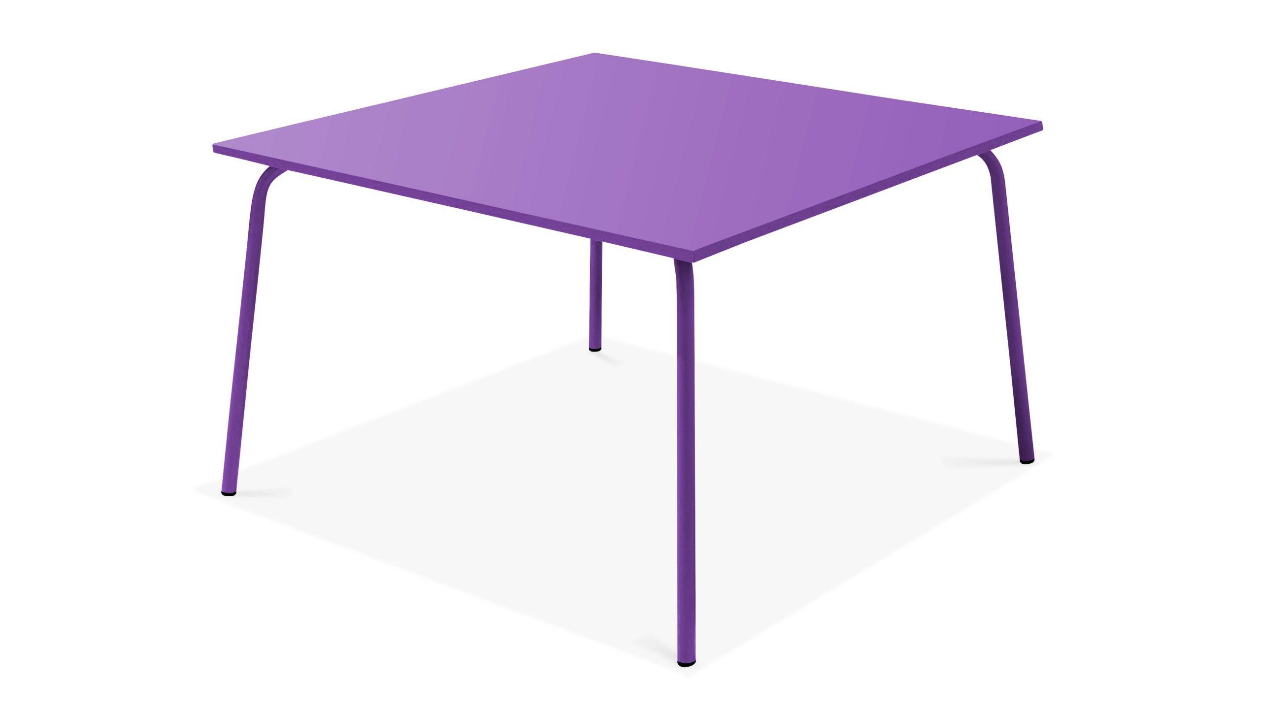Table De Jardin Carrée En Acier 8 Places | Oviala serapportantà Table De Jardin Carrée 8 Personnes