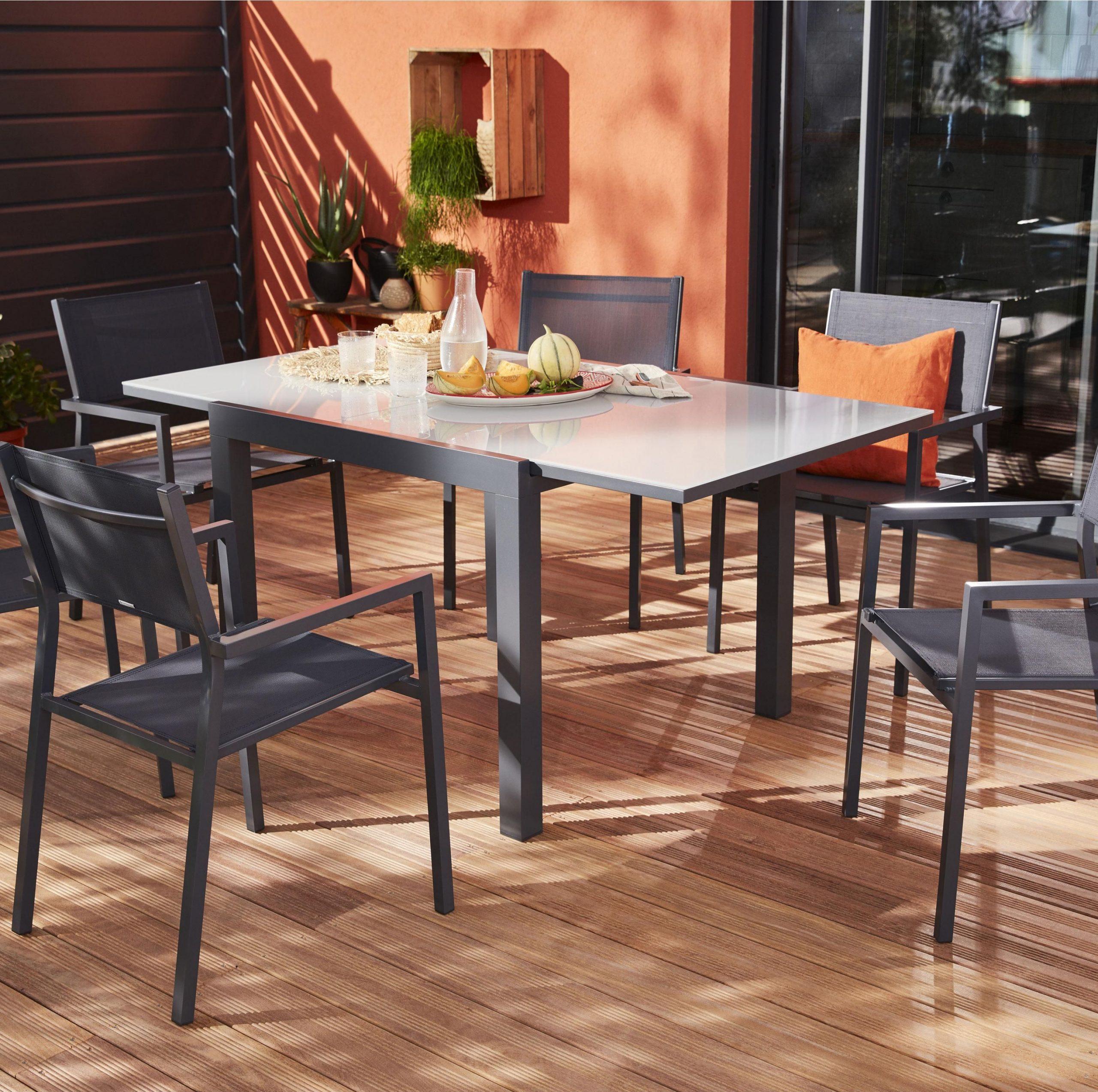 Table De Jardin De Repas Naterial Carrée 4 À 8 Personnes ... intérieur Table De Jardin Carrée 8 Personnes