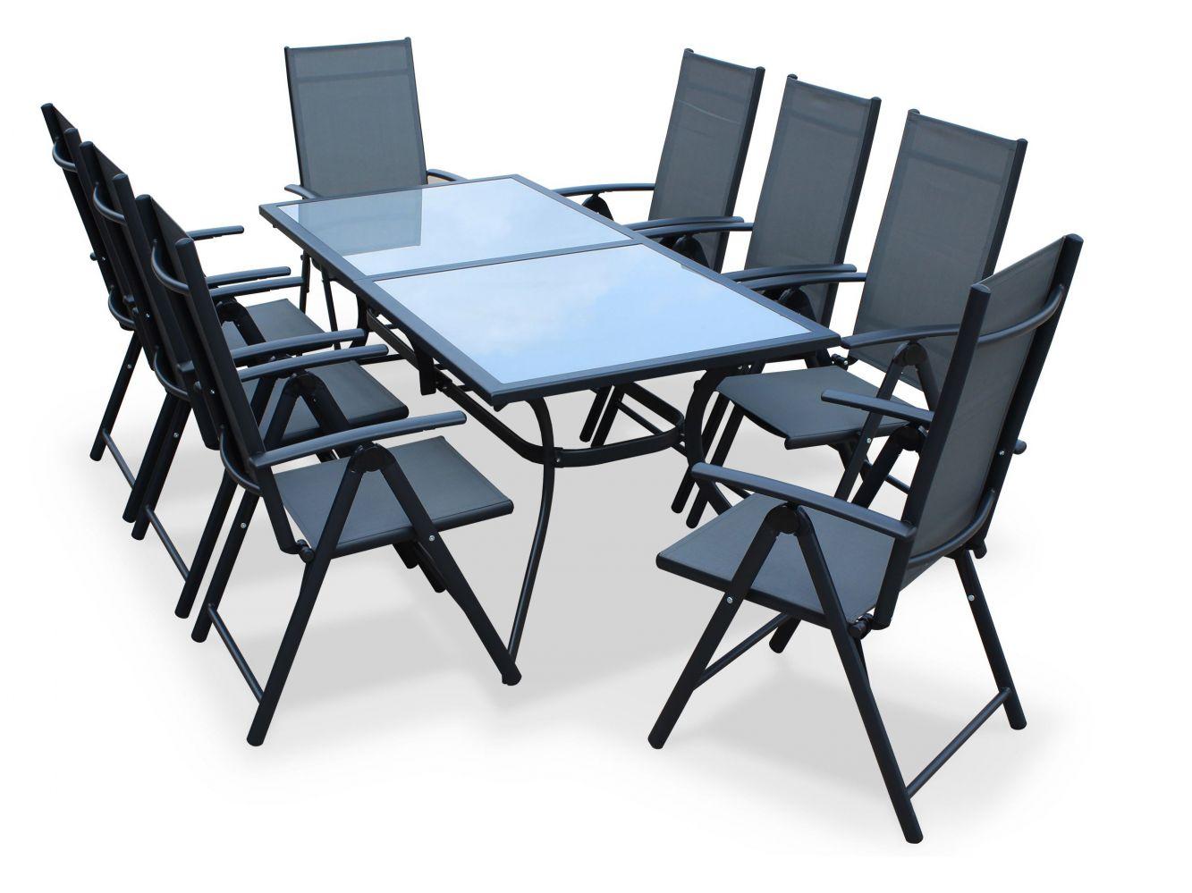 Table De Jardin En Aluminium Naevia De Leroy Merlin - Meuble ... concernant Salon De Jardin Tressé Leroy Merlin