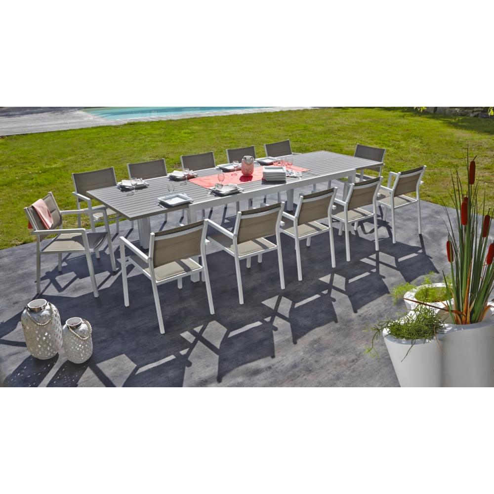 Table De Jardin Miami 10/12 Personnes pour Table Jardin 10 Personnes