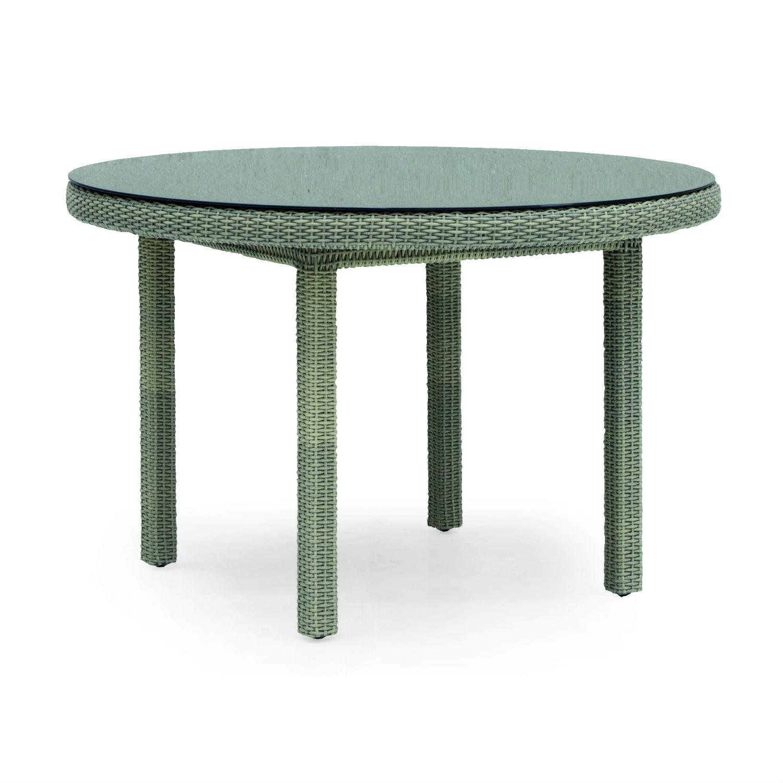 Table De Jardin Ronde 120 Cm En Résine Tressée Et Aluminium à Table De Jardin En Resine Tressée