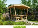 Table En Bois Avec Bancs Et Tonnelle: Bavaria De Weka ... tout Tonnelle De Jardin En Bois