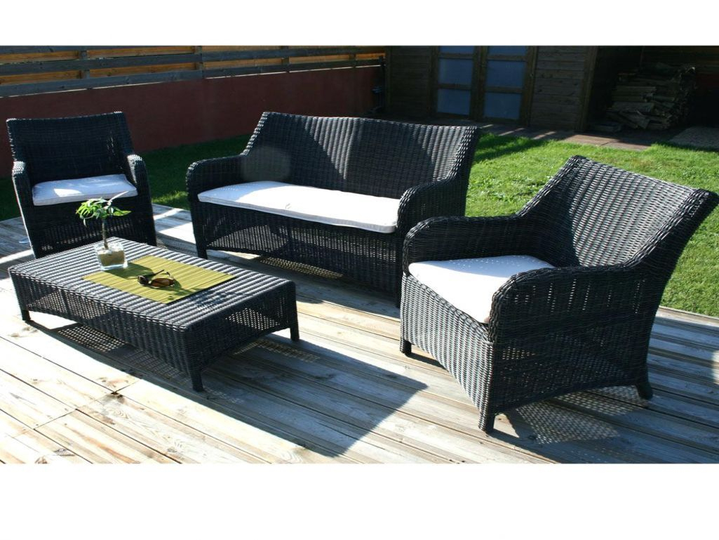 Table Et Chaise De Jardin En Resine Tressee Lunedesang ... pour Super U Salon De Jardin