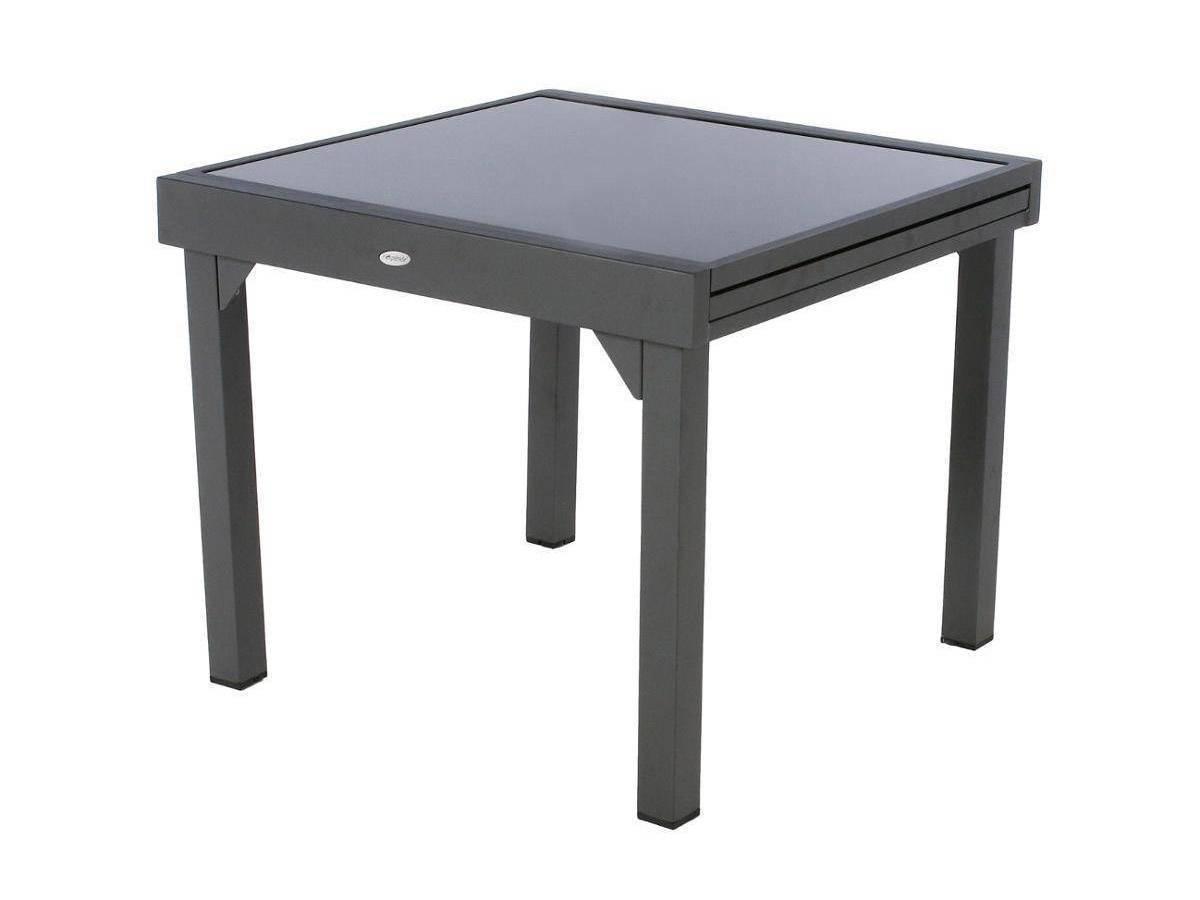 Table Extensible En Verre Piazza 4/8 Places - serapportantà Table De Jardin Carrée 8 Personnes