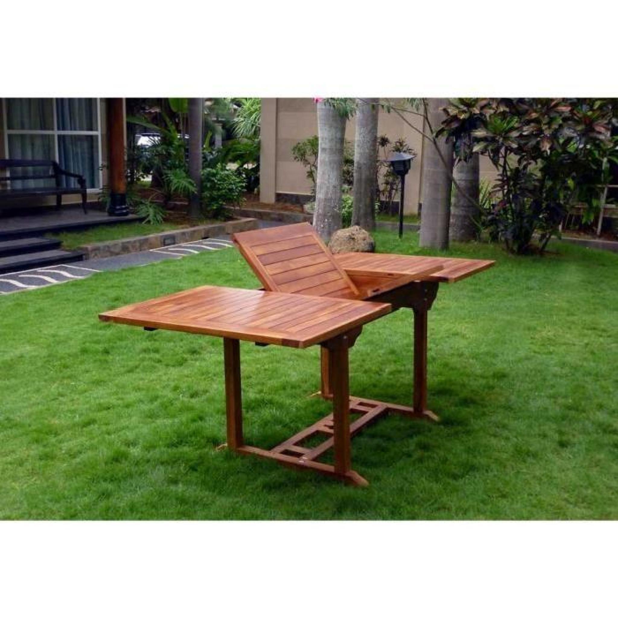 Table Extérieur En Teck Huilé 8 Places destiné Table De Jardin Extensible Pas Cher