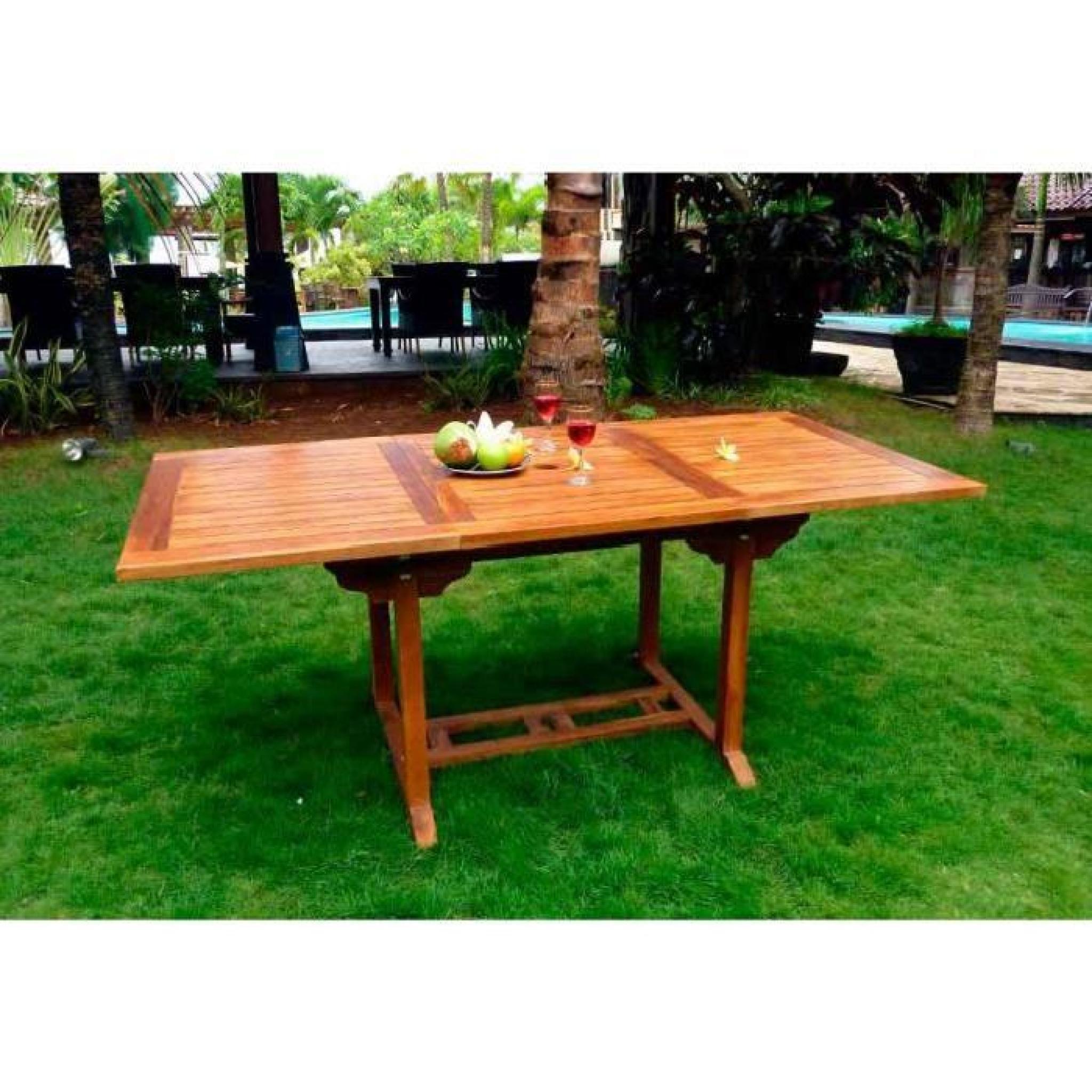 Table Extérieur En Teck Huilé 8 Places intérieur Table De Jardin Extensible Pas Cher