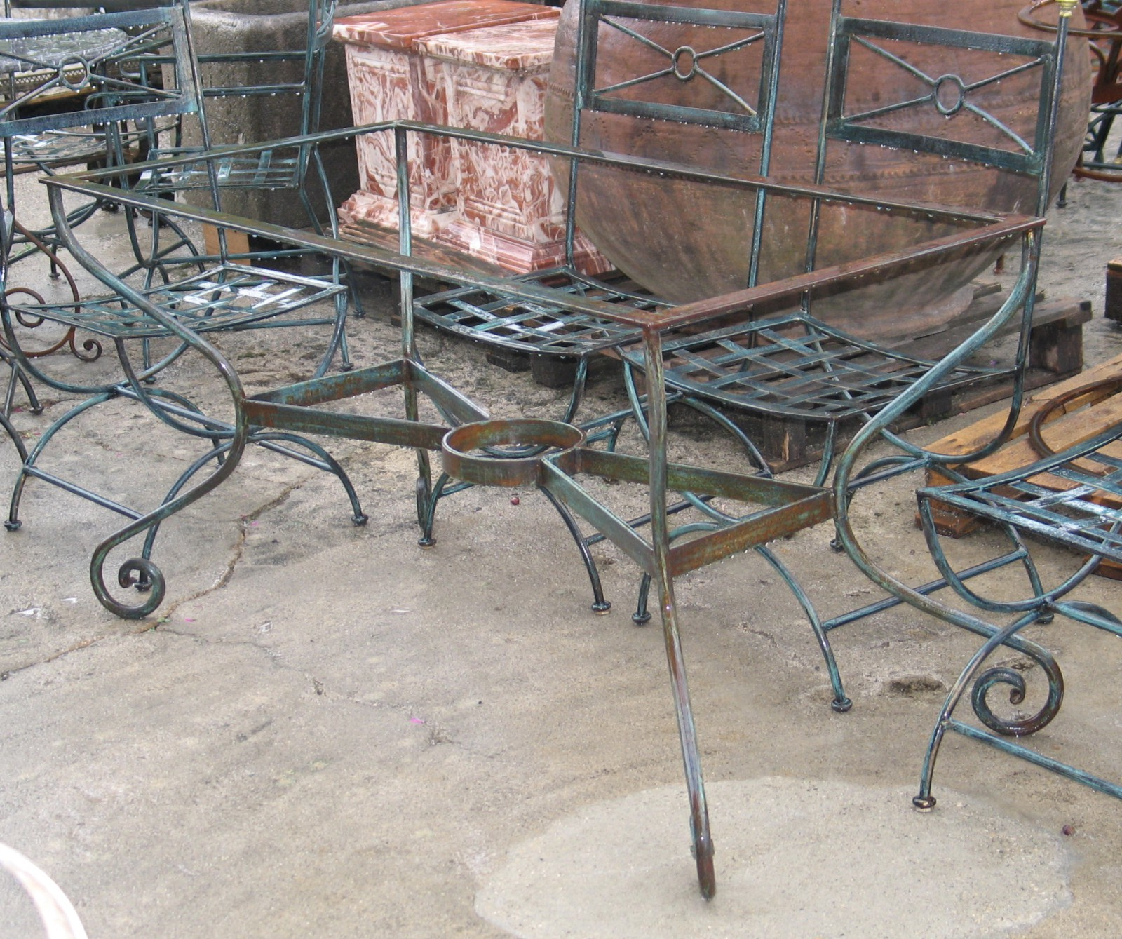 Table Fer Forg Mosaique Occasion Pour Salon De Jardin Chic ... concernant Salon De Jardin En Fer Forgé