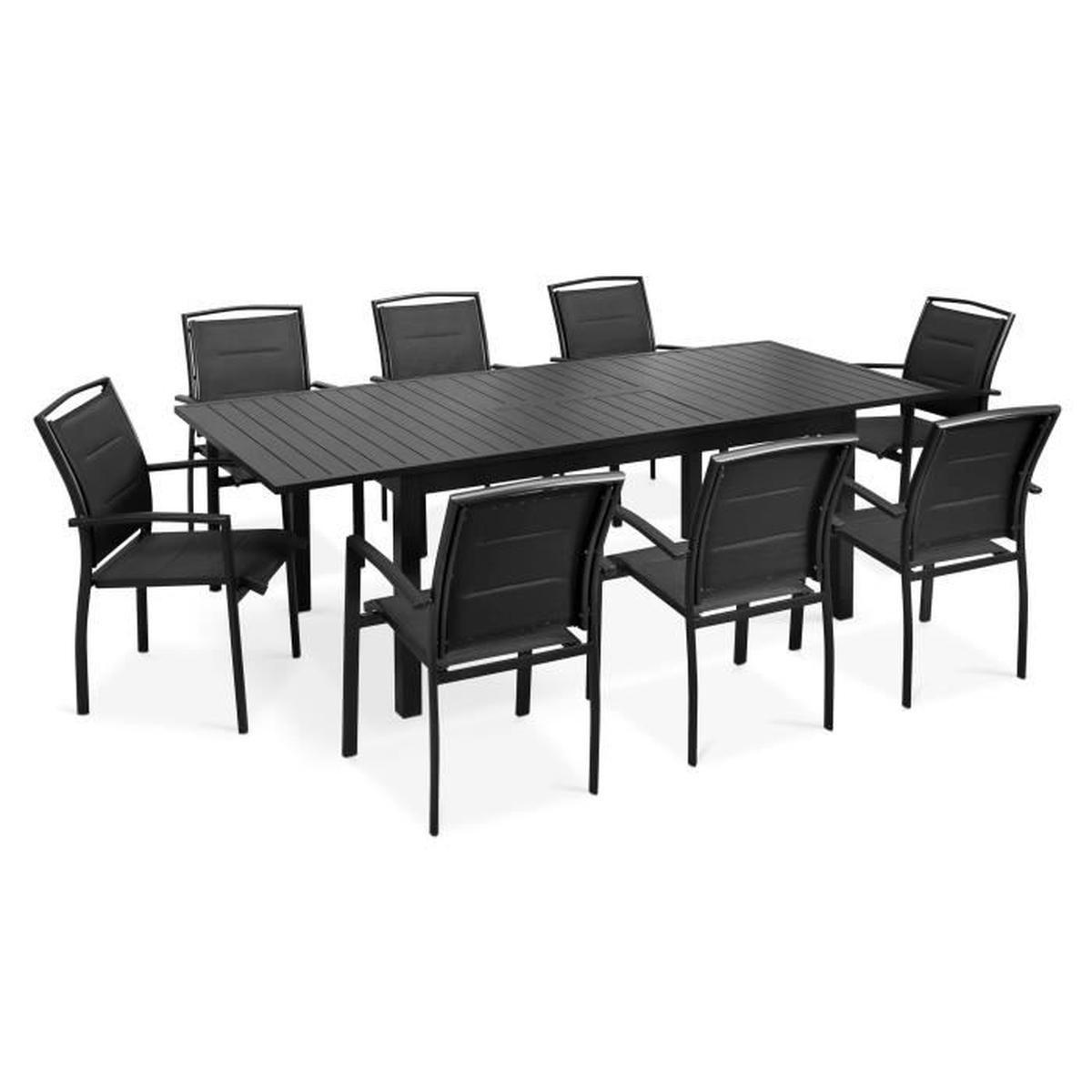 Table Jardin Rallonges serapportantà Table Et Chaises De Jardin Pas Cher