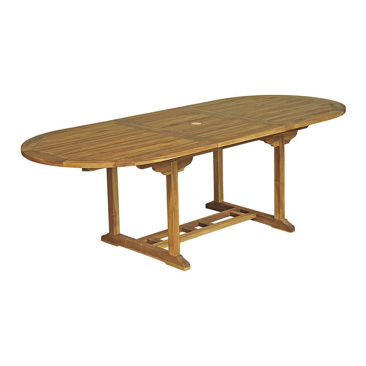 Table Ovale Baya - Teck Huilé 8/10 Places - Achat/vente De ... dedans Salon De Jardin En Teck Pas Cher