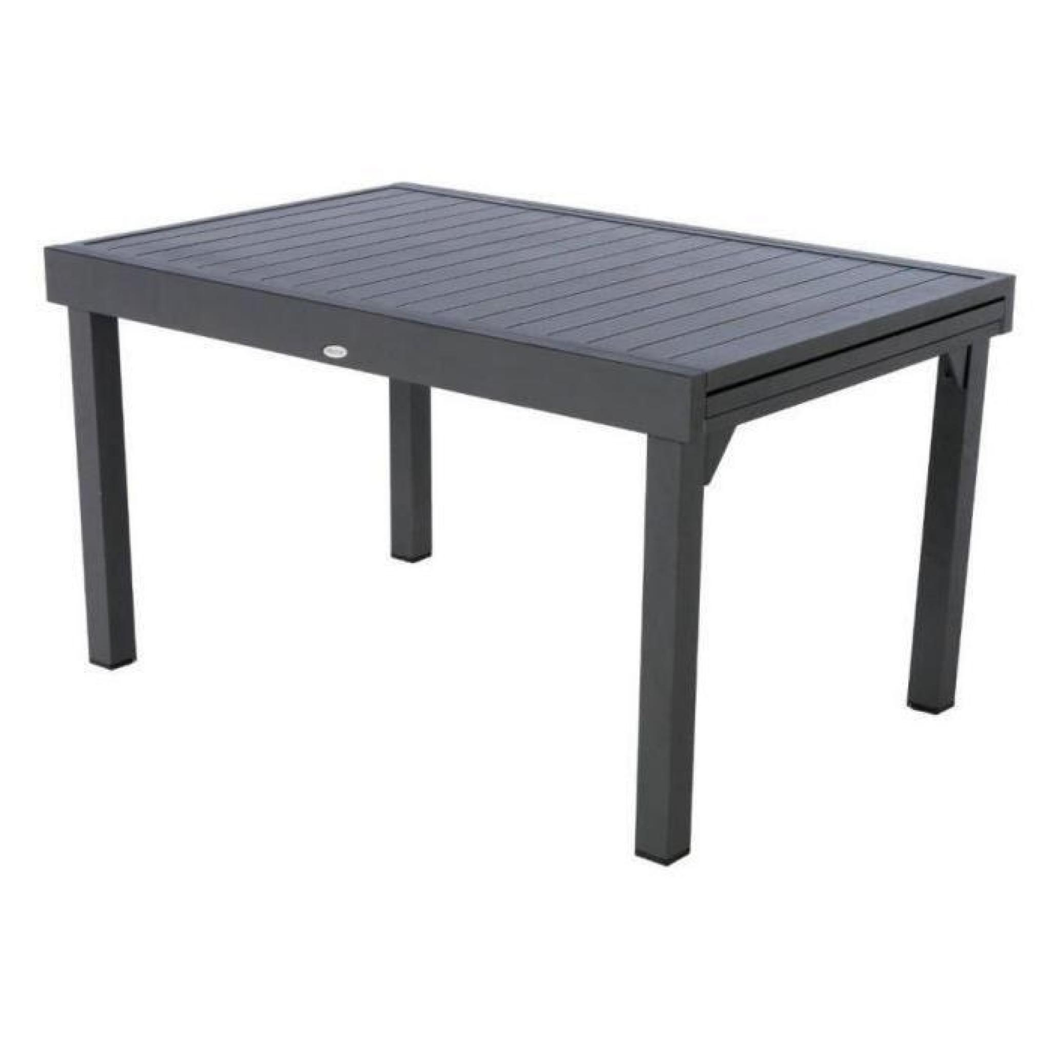 Table Piazza Alu Hesperide Extensible 10 P. Graphite serapportantà Table De Jardin Extensible Pas Cher