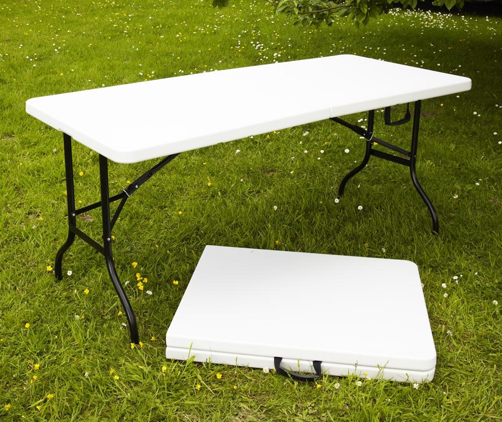 Table Pliante Multi-Usage 180X75X74Cm dedans Table De Jardin Magasin Leclerc