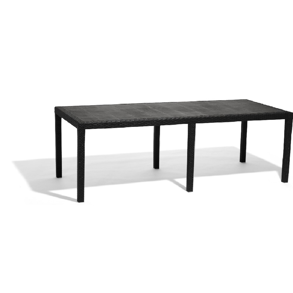 Table Rectangulaire Résine 10 Personnes Gris serapportantà Table Jardin 10 Personnes