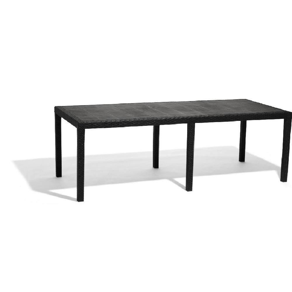 Table Rectangulaire Résine 10 Personnes Gris serapportantà Table Jardin 10 Personnes