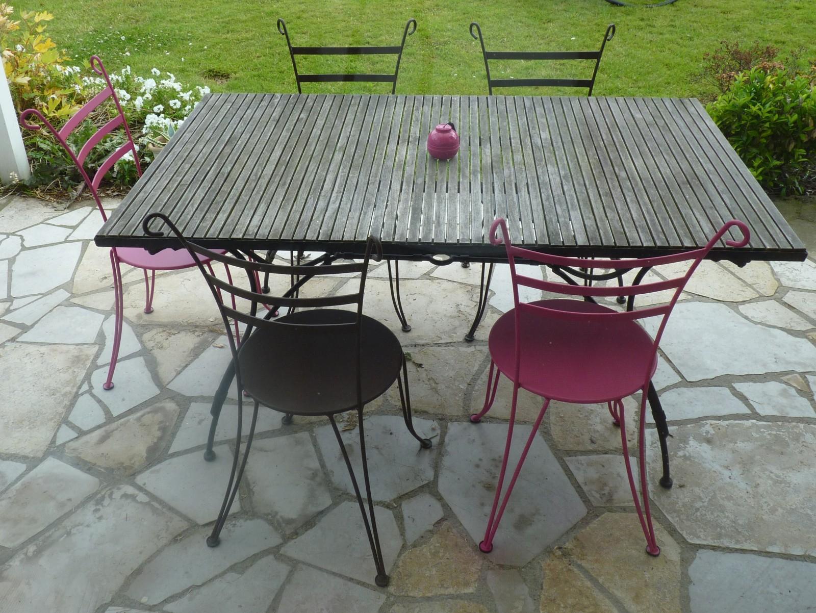 Table Ronde Fer Forgé Extérieur Nouveau Tables Et Chaises De ... avec Salon De Jardin En Fer Forgé