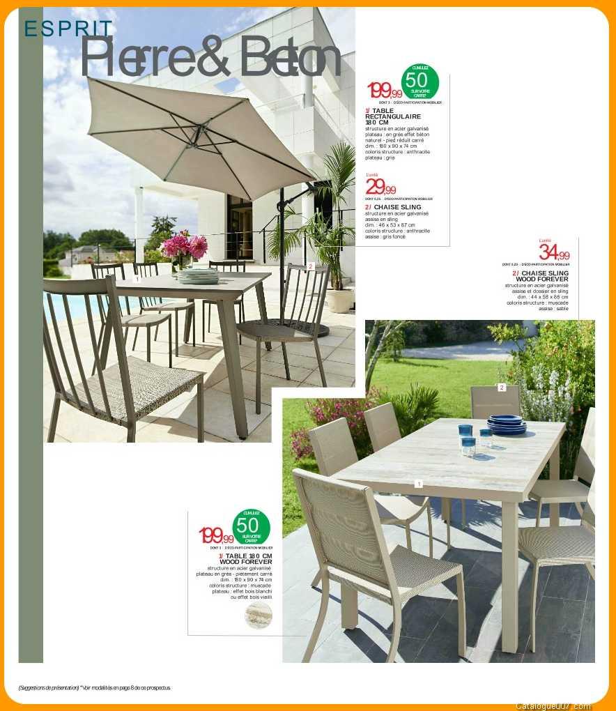 Tables De Jardin Intermarche Avril 2017 - Intermarché intérieur Table De Jardin Intermarché
