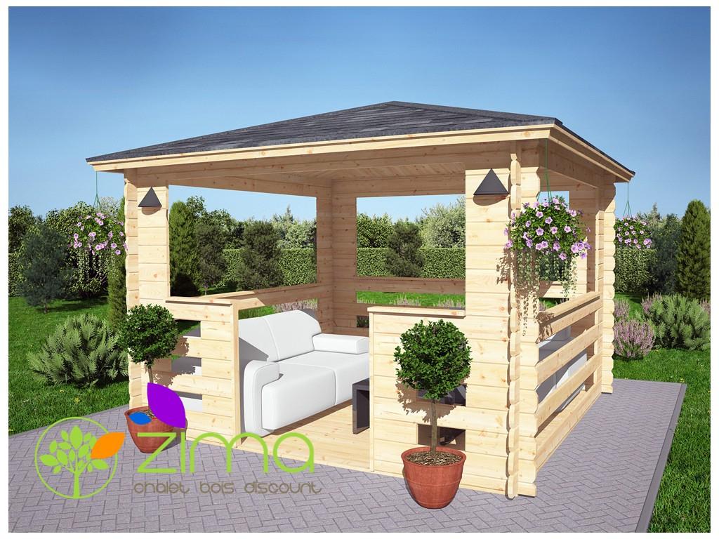 Tonnelle En Bois 9M² dedans Tonnelle De Jardin En Bois