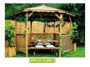 Tonnelle Hexagonale Bois - Tonnelles - Auvents - Cour Et Jardin concernant Tonnelle De Jardin En Bois