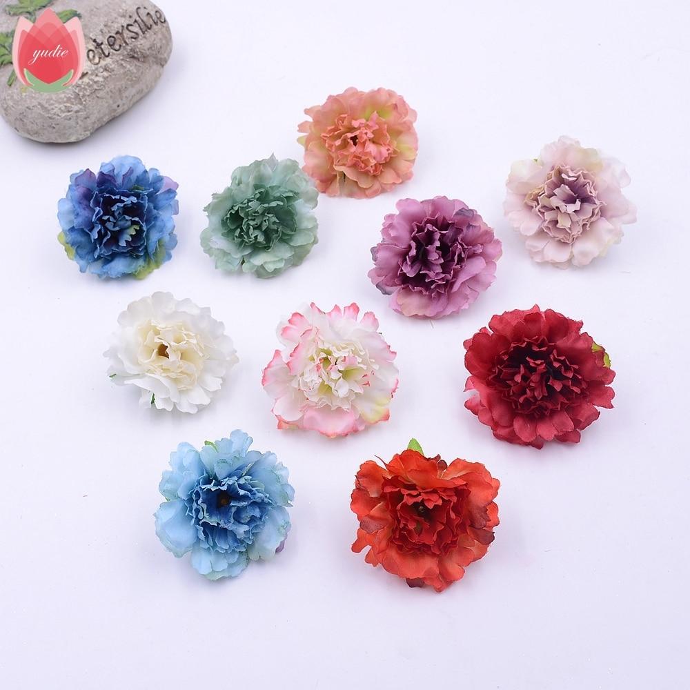Toptan 100 Adet İpek Yapay Şakayık Çiçek Düğün Ev Dekorasyon Mariage Flores  Giyim Aksesuarları Için Sahte Çiçekler dedans Salon De Jardin Hawai