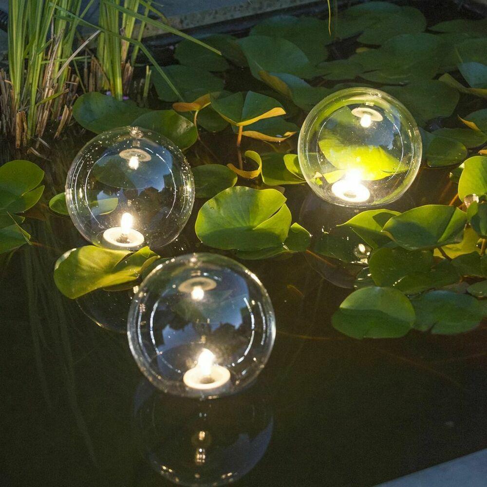 Ubbink Boules Lumineuses Multibright Float 3 Led Lampe De ... concernant Boule Lumineuse Jardin